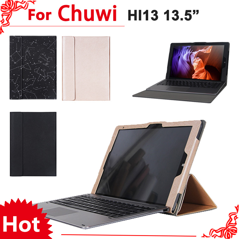 High Quality stand Pu leather case For chuwi hi13 13tablet PC,Fashion keyboard Protective sleeve For Chuwi Hi13+Screen flim<br>