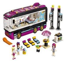 10407 BELA Friends Series Pop Star Tour Bus Model Building Blocks Classic Enlighten Figure Toys For Children Compatible Legoe