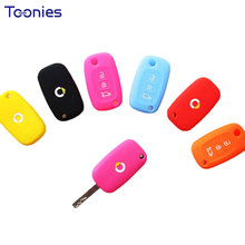 New Smart Fortwo Silicone Key Bag Cover Car Remote Holder Accessories Auto Keychain Case For Alarm Car Styling Cases Logo Cover(China)