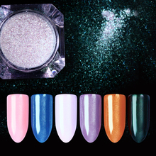 BORN PRETTY 1 Box Diamond Pearl Mermaid Powder Silver Gold Red Purple Blue Green Mirror Dust Shining Nail Art Glitter Powder
