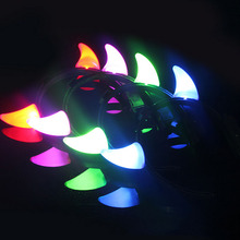 Blinking Small Devil Horn Girls Headband LED Light Flashing Adult Kids Headwear Dress Party Hair Accessory