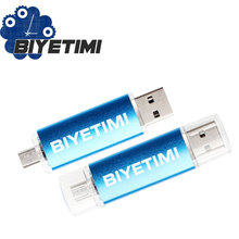 2016 Biyetimi Usb Flash Drive Real Capacity OTG External Storage 8GB 16GB 32GB Memory Usb Stick Pen Drive Pendrive For Andriod(China)