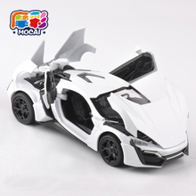 mocai 1:32 Scale 4 Color Alloy Lykan Hypersport Toy Car Fast & Furious 7 Diecast Car Model Cars kids Toys With Light&Sound JH049(China)