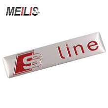 Latest 3D S Line Sline Car Front Grille Badge Sticker Car Modeling Audi A1 A3 A4 B6 B8 B5 B7 A5 A6 C5 C6 A7 TT Auto Sticker(China)