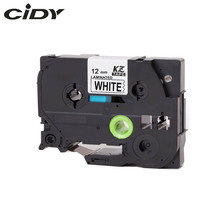 CIDY TZ231 TZ 231  TZe 231 Laminated Strong Adhesive tz-231 tze-231 Labels Tape P Touch black on white Compatible For Brother(China)