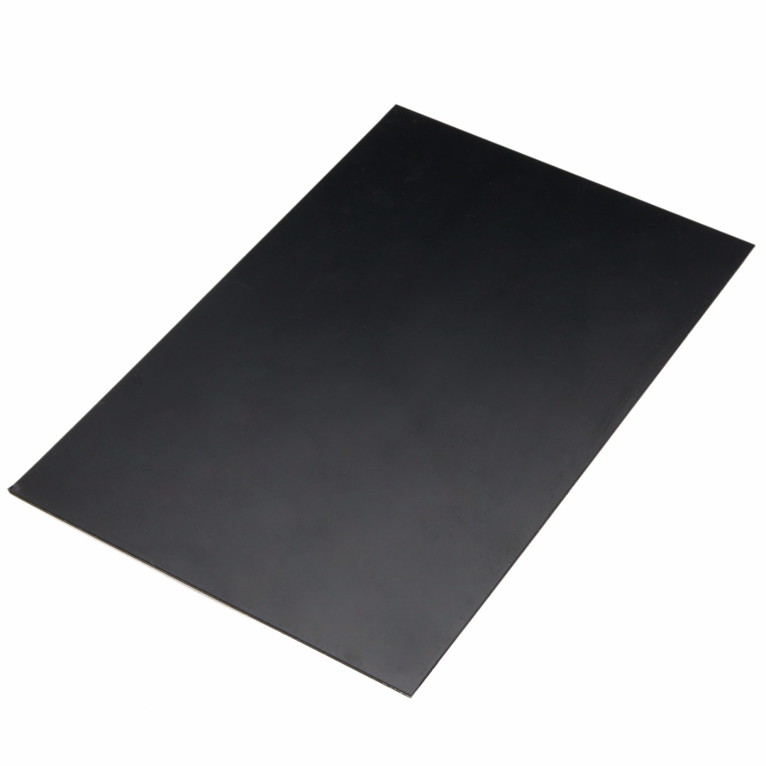Black 1 pcs ABS Styrene Plastic Flat Sheet Plate 1mm x 200mm x 300mm