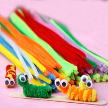 95PCS Multicolor baby educational toys DIY toy handmade art Toy materials shilly-stick Plush Stick Toys for Children