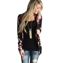 2016 Floral Print Autumn Long Sleeve Women Cardigan Plus Size Loose Casual Open Stitch Vintage Oversize Female Coat Sweater
