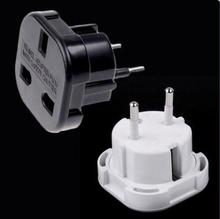 New Universal 2 Pin AC Power Plug Adaptor Connector Travel Power Plug Adapter UK to EU Adaptor Converter Wholesale(China)