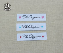 96 Custom Name Tags, Custom logo labels, iron on brand labels, sew on name tags  for children's clothing,Custom Colour/Font