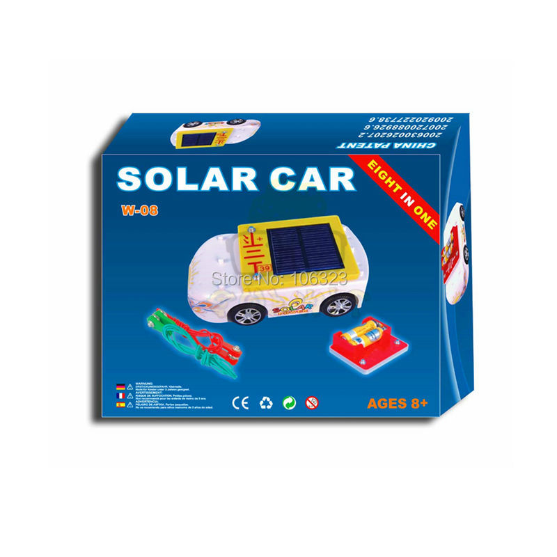 Teacher Wang W-08 New Solar Car, Assemble Eight in One, Child Mini Toy Vehicles, Kid Educational Toys, Learn to Make Electricity(China (Mainland))