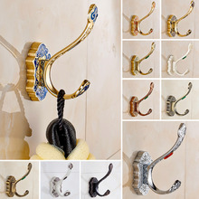 FREE SHIPPING Bathroom Classic Single Robe Hooks Towel Hook Bathroom Accessories Clotheswall Mount Single Hanger kitchen hooks(China)
