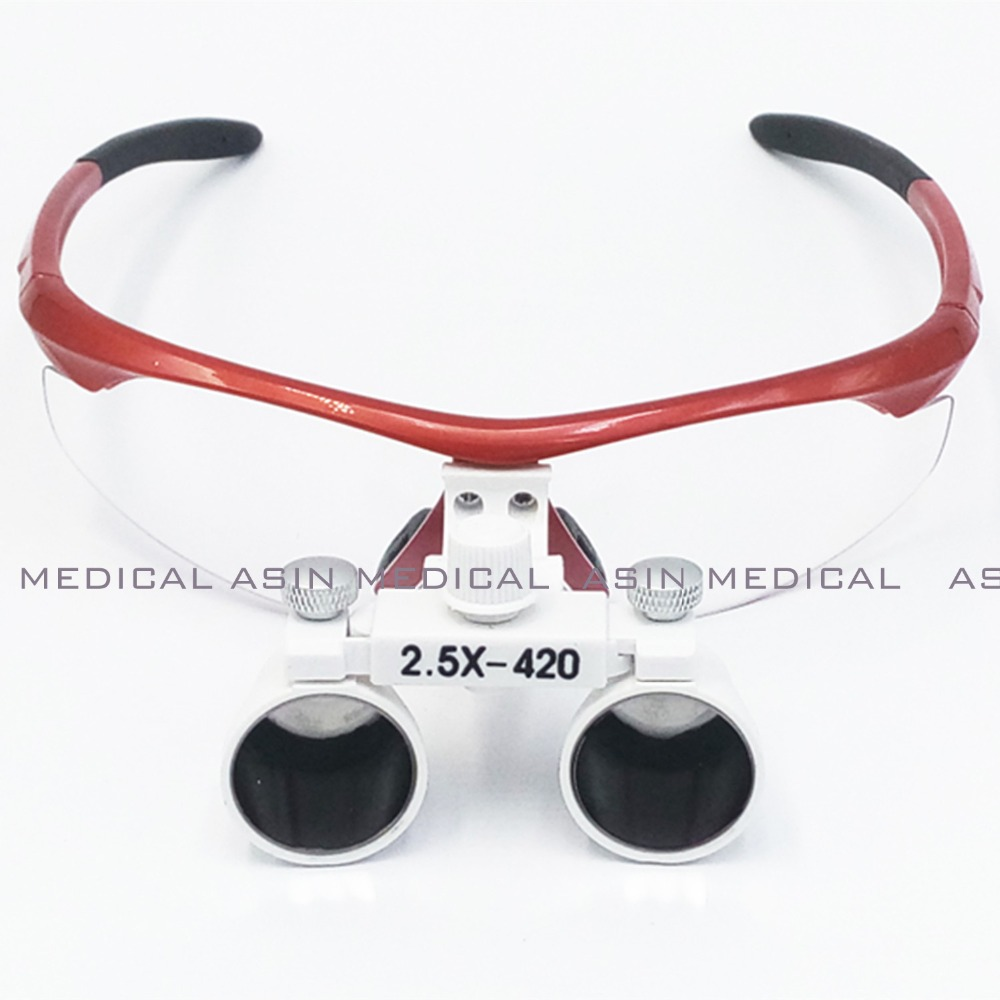 2.5X  420mm magnify dental magnifier medical equipment antifog loupes optical glasses Dentist 2.5 times surgical loupe<br><br>Aliexpress