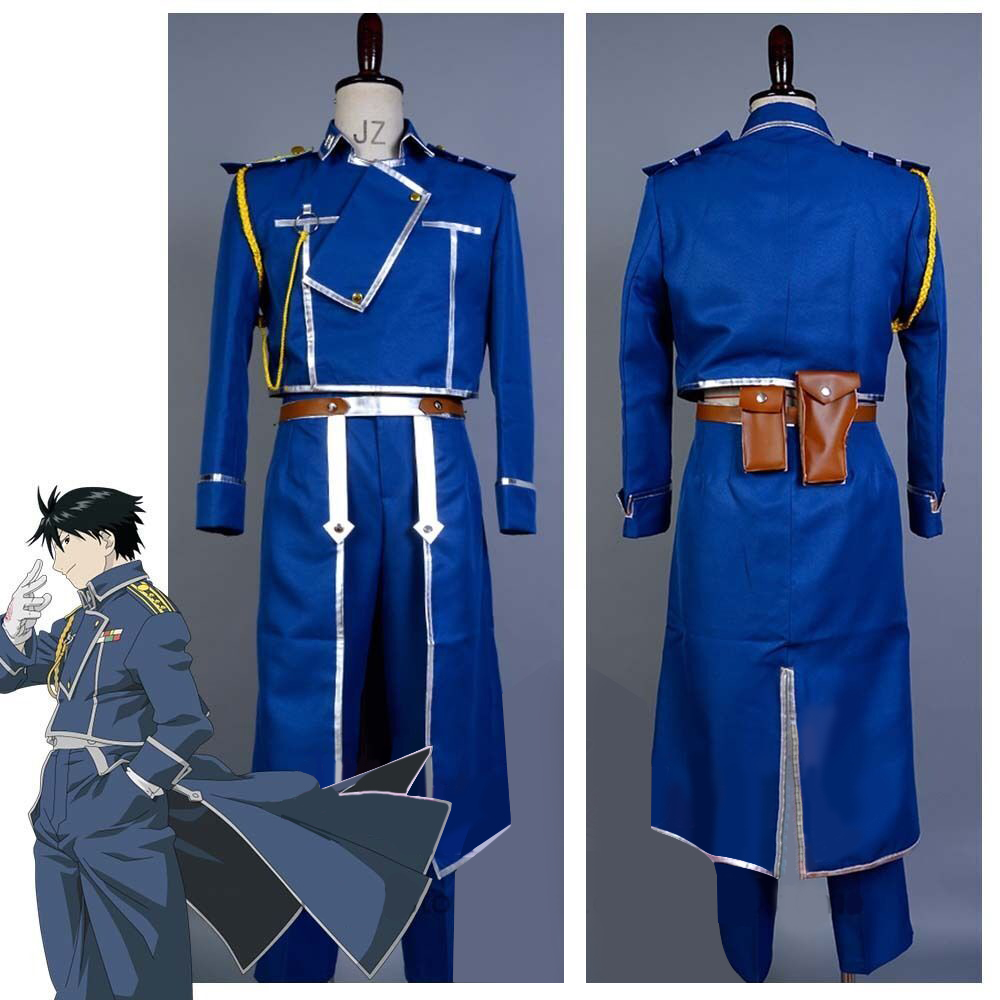 FullMetal Alchemist Cosplay Roy Mustang Uniform Costume Custom Free shipping