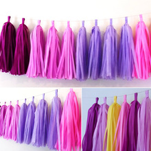 1 bag DIY Party Birthday Wedding Decoration Crafts Tissue Paper Tassels Garland Paper Pom Flowers Balls