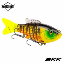 SeaKnight SK001 7 Section Swim Bait 80mm 19g 1PC Retail Sinking Fishing Lure Life-like Multi Jointed Bait Lure Fishing Tackle(China)
