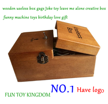 New 14 styles wooden useless box gags Joke toy leave me alone creative box funny machine toys birthday love gift