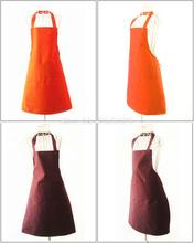 Thicken Cotton Polyester Blend Anti-wear Anti Fouling Cooking Kitchen Restaurant Bib Apron With Pockets