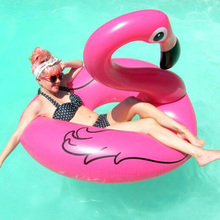 Inflatable PVC Flamingo Circle Pool Floats Toy Air Mattress Swimming Ring Float Inflatable Pool Ring Toys for Adult para piscina