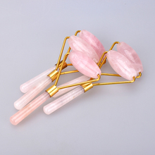 Wholesale Rose Quartz Roller Slimming Face Massage Facial Skin Care Gua Sha Scraping Tool Back Relax Body Massage & Relaxation(China)