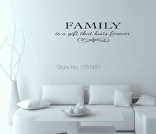 Family is a gift love that lasts forever wall pictures for living room wall art decals quote living room wallstickers