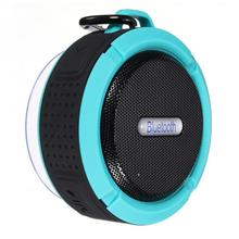 NEW Portable Waterproof Outdoor Wireless Bluetooth Speaker C6 Sucting Computer Mobile Phone Speaker Support TF Card In stock!(China)
