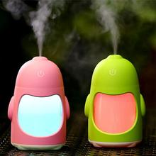 150ML Mini Penguin LED Night Light Humidifier Lamp Air Ultrasonic Home Essential Oil Diffuser Atomizer Air Freshener Mist Maker(China)