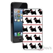 black scottie dogs red bows Protector back skins mobile phone cases for iphone 4/4s 5/5s 5c SE 6/6s plus ipod touch 4/5/6