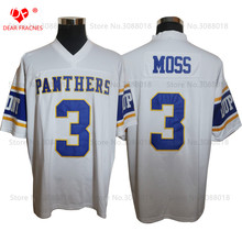 Cheap Shirt for Mens American Football Jerseys Randy Moss 3# Dupont Panthers High School Throwback Jerseys Retro Red Stitched(China)