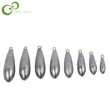 5PCS/Lot Weight Size 10g/20g/30g/40g/50g/60g/70g/80g water droplets lead weights fishing lead sinkers fishing accessories GYH