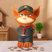 fox Money Box Piggy Bank casino Saving Box Moneybox Coin cash collection stealing coins cents kids Gifts wallet(China)