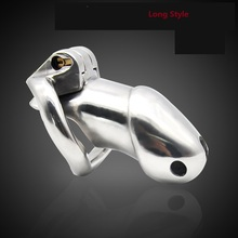 2018 Latest Dormant Lock Design Male Cock Cage Penis Ring Chastity Belt Device Virginity Lock Adult BDSM Sex Toy Product 2 Size(China)