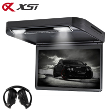 XST 13.3 Inch Car Roof mount DVD Player Flip down 1080P Video HD Digital TFT Wide Screen USB/SD/HDMI Port/MP5/IR/FM Transmitter