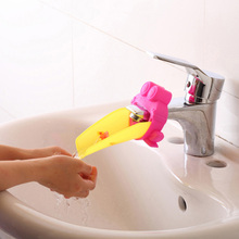 2 Pcs A Set Bathroom Accessories Sink Plastic Faucet Chute Extender Children Kids Washing Hands Tools Banheiro(China)