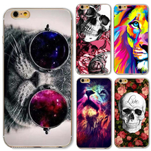 Cat Phone Case For iPhone 6 6S 5 5s SE Plus 6Plus 6sPlus Soft Silicone Skull Tiger Lion leopard Carcasas Fundas Capinha Bag