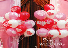 50 Pcs 12 inch Love Heart  Balloons Pink/Purple/Red Helium Foil Balloon Birthday/New Year/ party Wedding Decoration Balloons