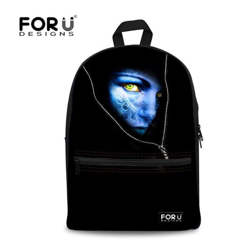 Black Men Backpack for School Boys Unique Monster Face Kids School Bag Casual Children Bagpack Bookbags High Quality<br><br>Aliexpress
