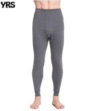 Mens long johns men thermal underwear loose gray and deep gray size L to 5XL(China)