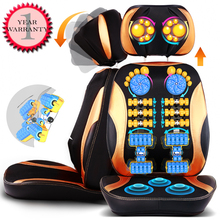 Hot 220V Anti-stress electric Roller Vibration Shiatsu Neck & Back  Massager Cushion body massage chair device Dellin Shipping
