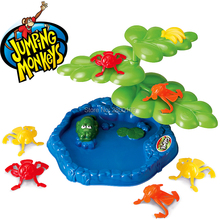 Plastic Family Fun Jumping Monkey Parent-child Interaction Puzzle Brain Table Games Party Favors Educatinoal Toys(China)