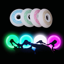 Skates roller,100% Original LED Flash roller for roller skates,88A 72/76/80mm Inline Braking Wheels for SEBA skate Shoes I4