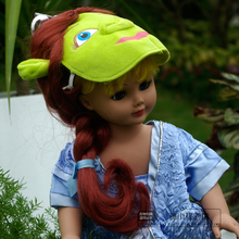 Free shipping 2PCS/SET Princess skirt + wig Doll Clothes Wear fit 43cm Baby Born zapf,American Girl Doll best Birthday Gift toys