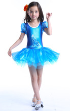 Discount Classical Ballet Tutu Dancewear Girl Cute Mermaid Dance Costumes Ballerina Dress Kids Blue/Pink Ballet Clothes Children(China)