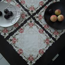 Rustic fabric embroidery table cloth table placemat disc pads telephone speaker cutout cover towel colorful rose