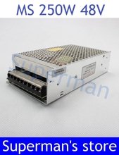 power supply 48v 250w 48V 5.2A power suply 250w 48v mini size power supply unit led  ac dc converter ms-250-48