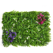 63*44cm Creative Artificial Lawn Plastic Green Grass Landscape Sod Square Eucalyptus Leaf Turf Shopping Mall Hotel Wall Decor