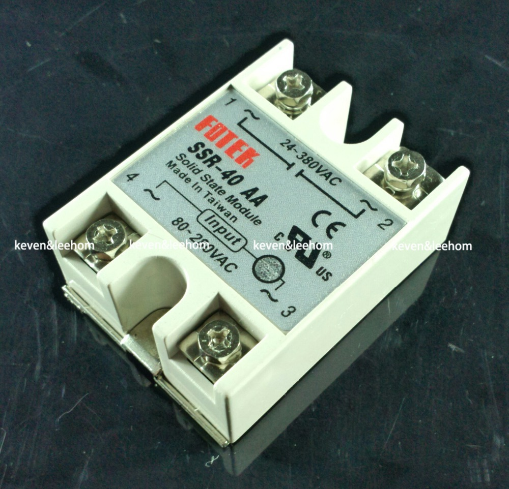 solid state relay SSR-40AA 40A actually 80-250V AC TO 24-380V AC SSR 40AA relay solid state<br><br>Aliexpress