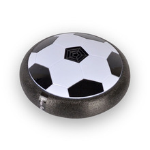 New 1Pcs Funny LED Light Flashing Arrival Air Power Soccer Ball Disc Indoor Football Toy Multi-surface Hovering And Gliding Toy(China)