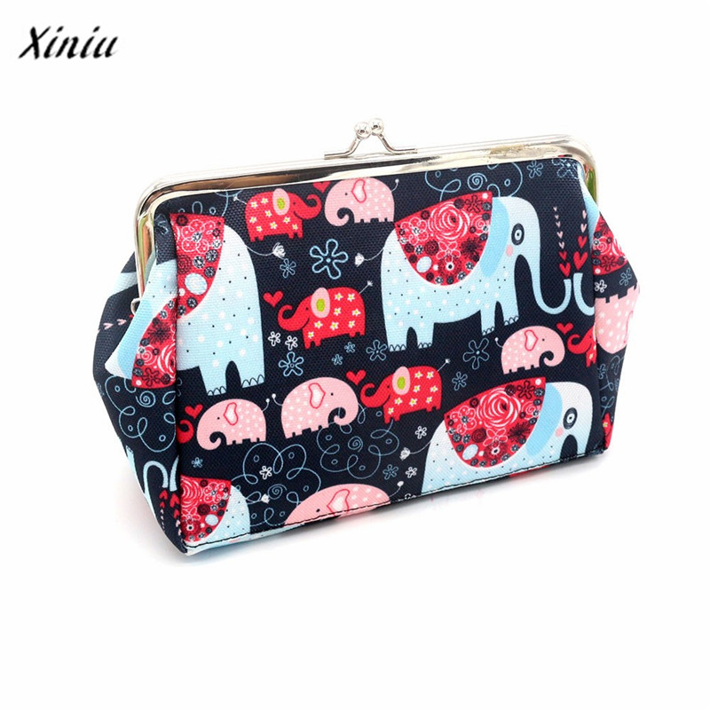 New brand Clutch Bag Women Lady Retro Vintage Elephant Small Coin Purses Wallets Hot Card Holders bags Gift 1 pcs(China)