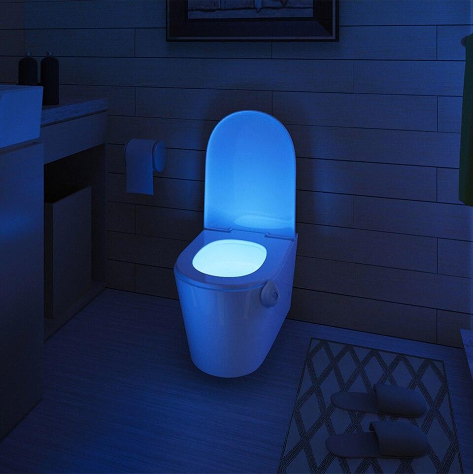 Toilet - LED Toilet Seat Night Light Motion Sensor WC Light 8 Colors